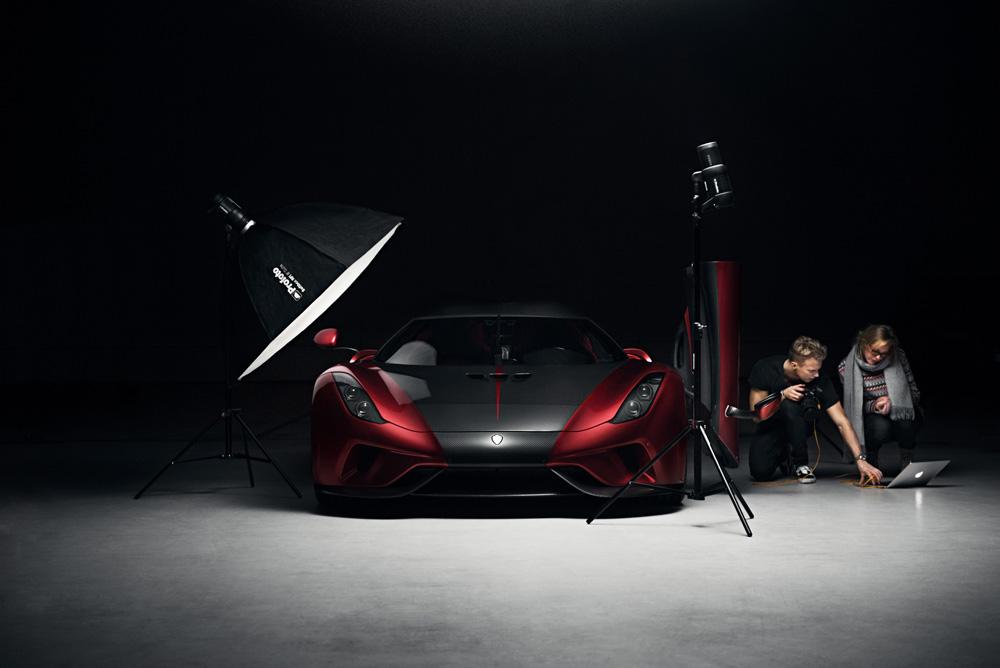 Behind the scenes från plåtning åt Koenigsegg