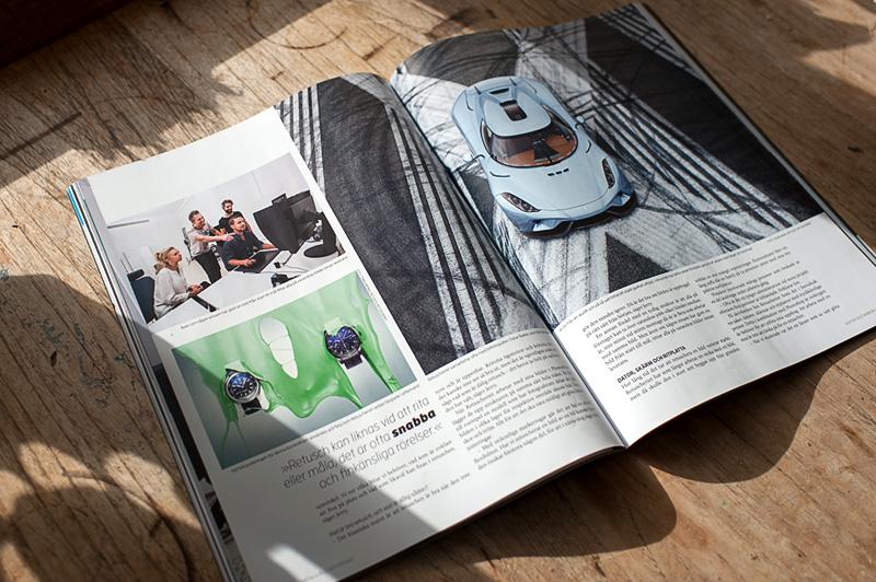 Ett uppslag ur reportaget om Retuscheriet i tidningen Kamera & Bild